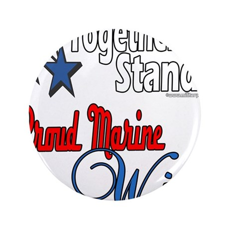 "Proud Marine Wife 3.5"" Button (100 pack)"
