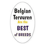 Belgian Tervuren Best of Breeds Oval Sticker