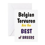 Belgian Tervuren Best of Breeds Greeting Cards (Pa