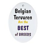 Belgian Tervuren Best of Breeds Oval Ornament
