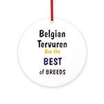 Belgian Tervuren Best of Breeds Ornament (Round)
