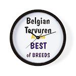 Belgian Tervuren Best of Breeds Wall Clock