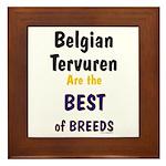 Belgian Tervuren Best of Breeds Framed Tile
