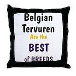 Belgian Tervuren Best of Breeds Throw Pillow