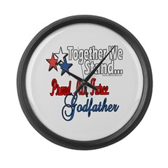 Air Force Godfather Large Wall Clock