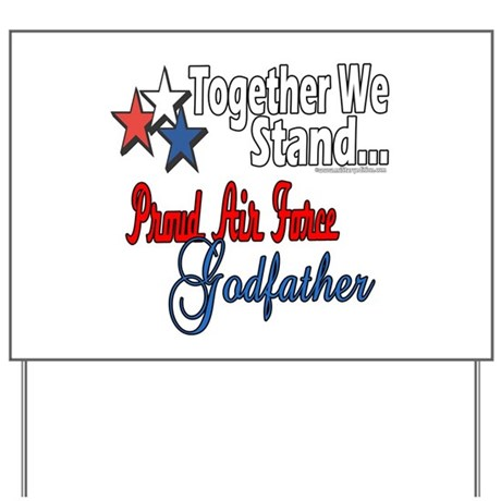 Air Force Godfather Yard Sign