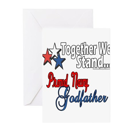 Navy Godfather Greeting Cards (Pk of 20)
