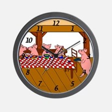 Cute Piggies Wall Clock