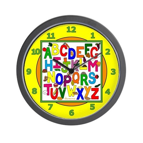 Healthy Food ABC Wall Clock