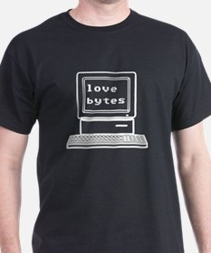 Love Bytes Black T-Shirt