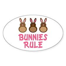 Easter Bunnies Rule Decal