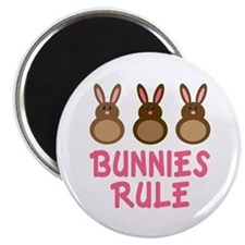 Easter Bunnies Rule Magnet