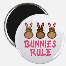 Easter Bunnies Rule Magnet