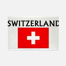 Cute Switzerland map Rectangle Magnet
