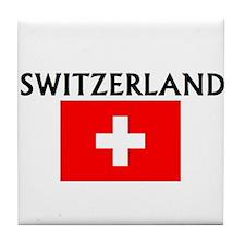 Cute Switzerland Tile Coaster