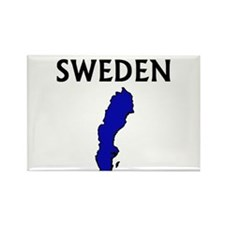 Cute Sweden map Rectangle Magnet