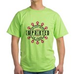 Imprinted Stamp Green T-Shirt