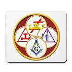 Masonic York Rite Circle Mousepad