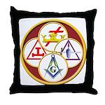 Masonic York Rite Circle Throw Pillow