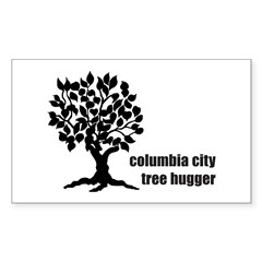 Columbia City Tree Hugger Sticker (Rectangle)
