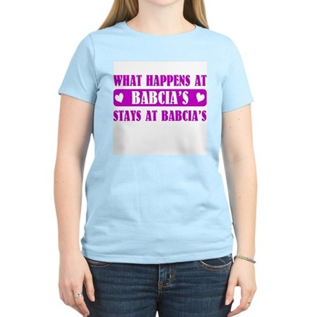 What Happens at Babcia's Women's Light T-Shirt