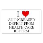I Love Health Care Deficit Sticker (Rectangle)