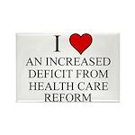 I Love Health Care Deficit Rectangle Magnet