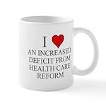 I Love Health Care Deficit Mug