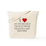 I Love Health Care Deficit Tote Bag
