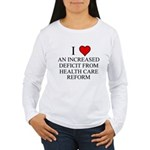 I Love Health Care Deficit Women's Long Sleeve T-S