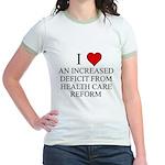 I Love Health Care Deficit Jr. Ringer T-Shirt