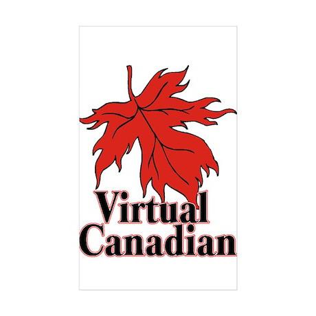 Virtual Canadian Sticker (Rectangle 10 pk)