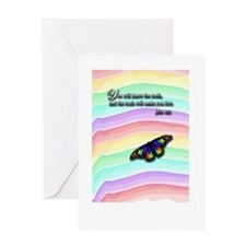 You Will Know The Truth Card Greeting Cards