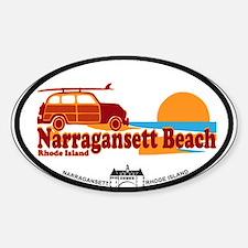 Narragansett RI - Surfing Design Sticker (Oval)