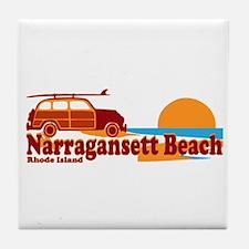 Narragansett RI - Surfing Design Tile Coaster
