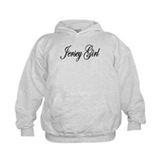 Jersey Girl White Letters Hoodie