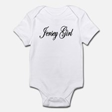 Jersey Girl White Letters Infant Bodysuit