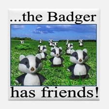 The Badger has friends: Tile Coaster