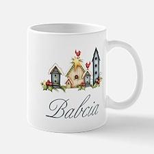Babcia Christmas Birdhouses Mug