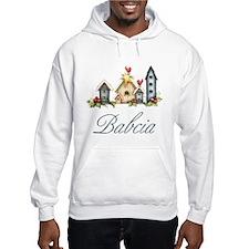 Babcia Christmas Birdhouses Hoodie