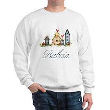 Babcia Christmas Birdhouses Sweatshirt