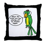 Tommy - Stop Staring Throw Pillow