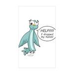 Clyde - Help! Sticker (Rectangle 50 pk)