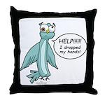 Clyde - Help! Throw Pillow