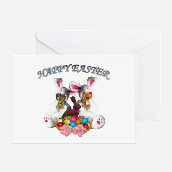 Easter Doxies Greeting Card