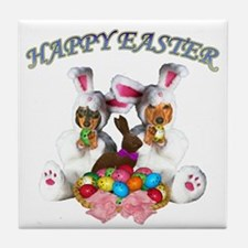 Easter Doxies Tile Coaster