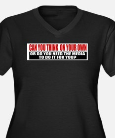 Can You Think On Your Own Women's Plus Size V-Neck