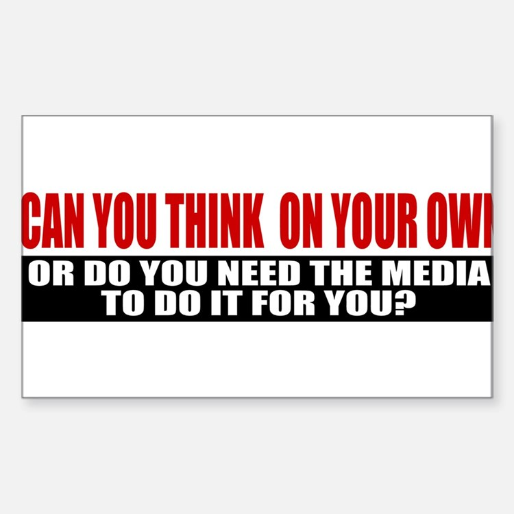 Can You Think On Your Own Sticker (Rectangle)