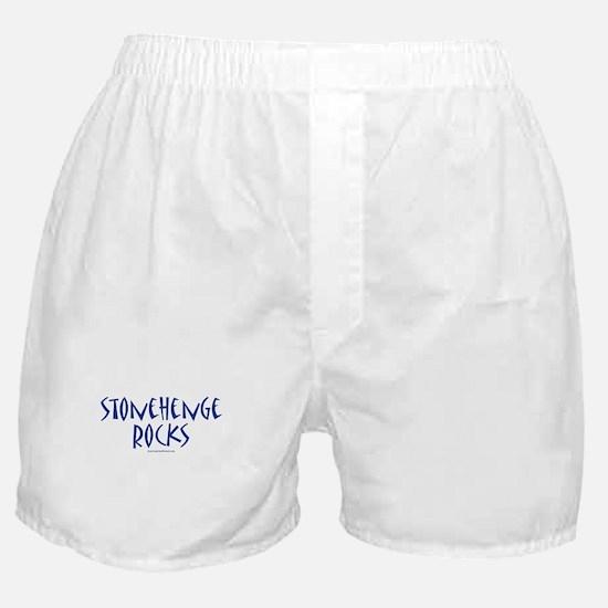 Stonehenge Rocks (Blue) - Boxer Shorts