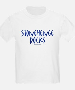 Stonehenge Rocks (Blue) - Kids T-Shirt